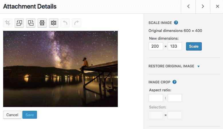 resize wordpress images