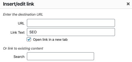 wordpress internal linking example to open in a new tab