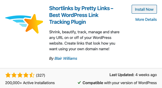 install wordpress SEO plugin called pretty links