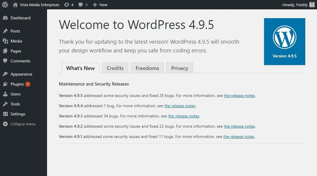 how to update wordpress