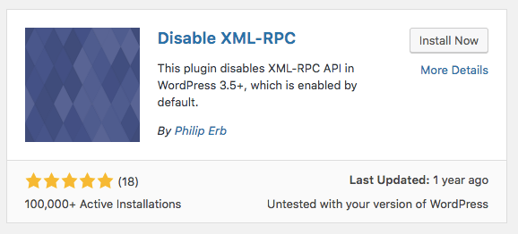 install disable xmlrpc plugin