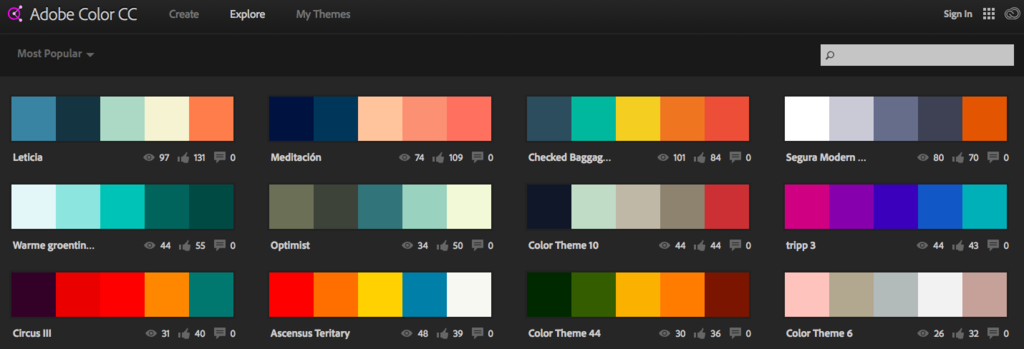 Adobe Color Palet