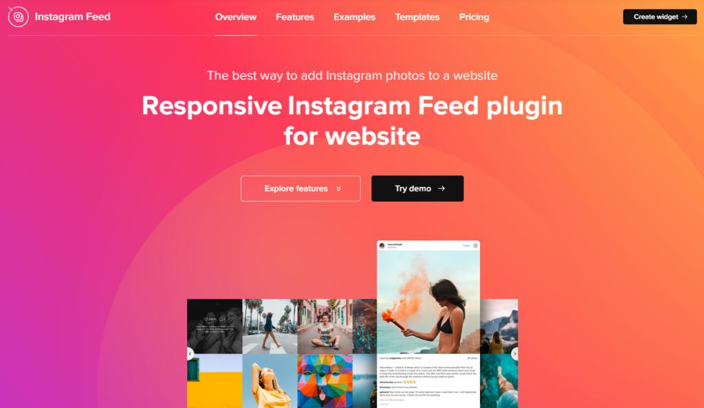 Instagram Feed plugin homepage