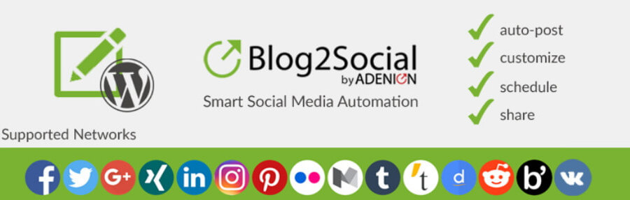 The Blog2Social WordPress Instagram plugin.