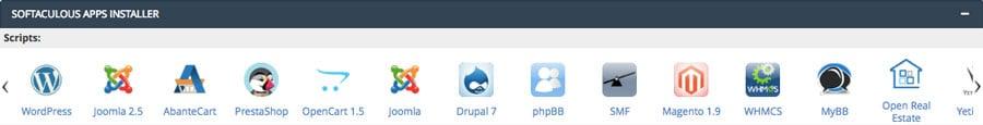 cPanel auto installer scripts