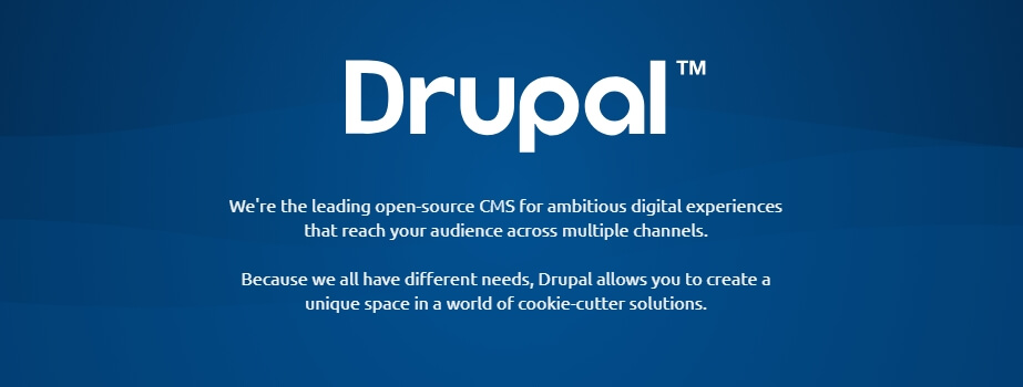 The Drupal homepage for open-source CMS