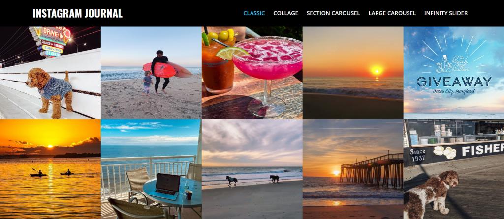 Instagram Journal plugin homepage