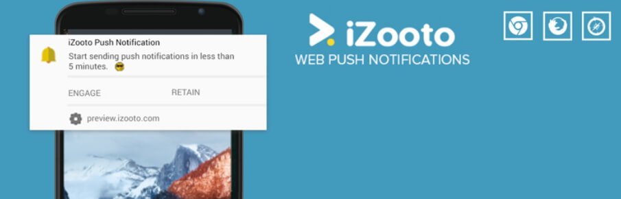 The iZooto push notifications plugin.