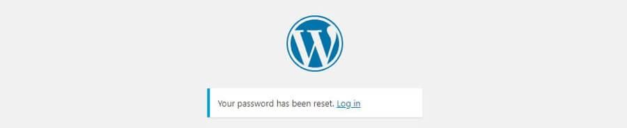 A password change success message.