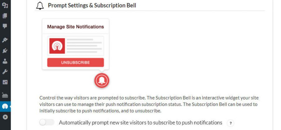 Configuring your subscription bell.