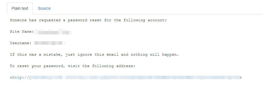 Your password reset email.