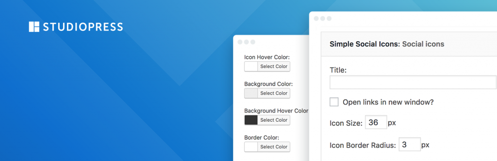 Simple Social Icons plugin banner
