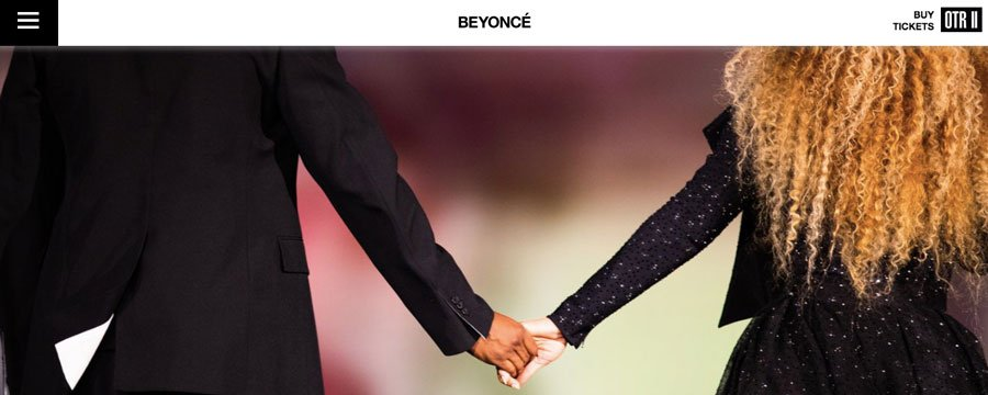 Music artist Beyonce's website
