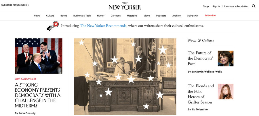 WordPress used by The New Yorker magazine
