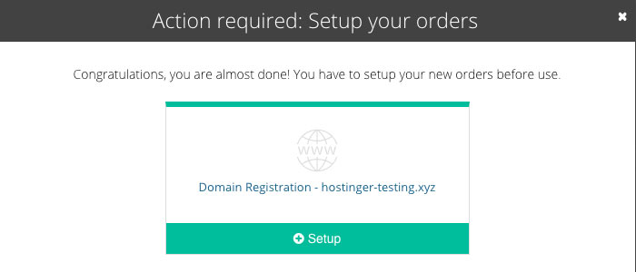 Step four of how to buy a domain name - completing the registration