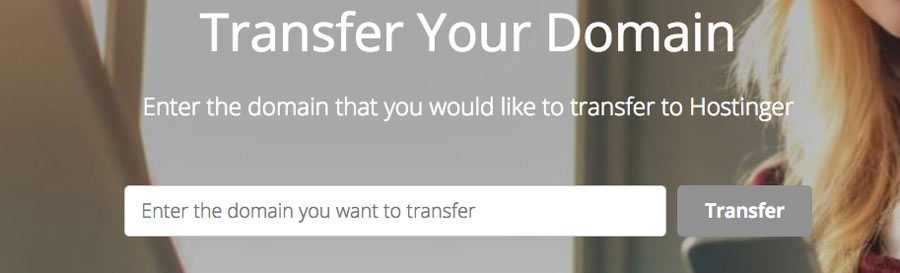Transferring a domain name to Hostinger