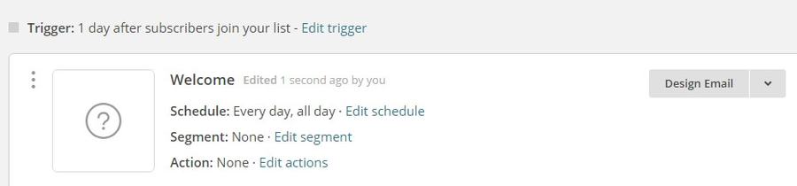 Editing your email's trigger.