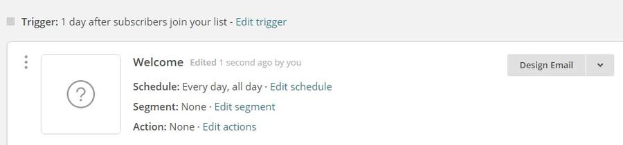 Modifier le déclencheur de votre email.
