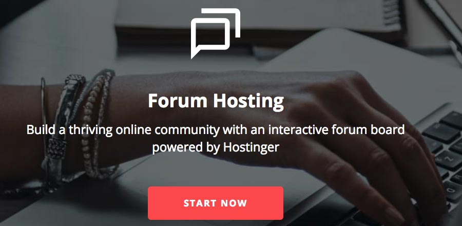 Host the best forum software solutions with Hostinger