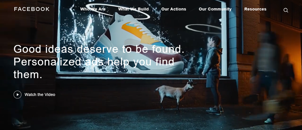 A screenshot showing Facebook's ad campaign