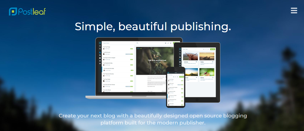 Postleaf popular blogging website builder
