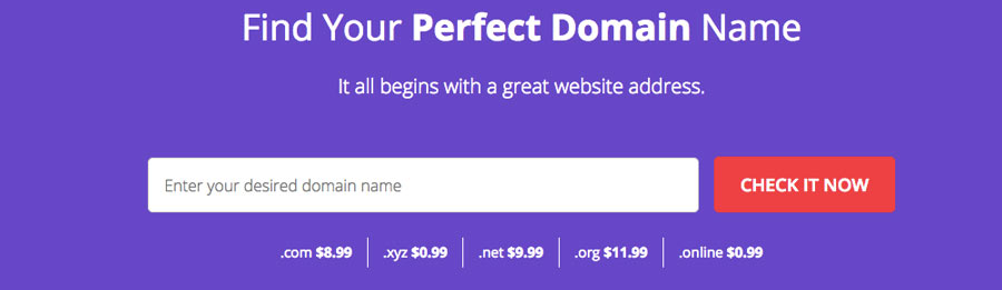 Using domain checker to register a new domain name