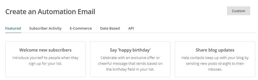 Email automatique de mise à jour du blog.