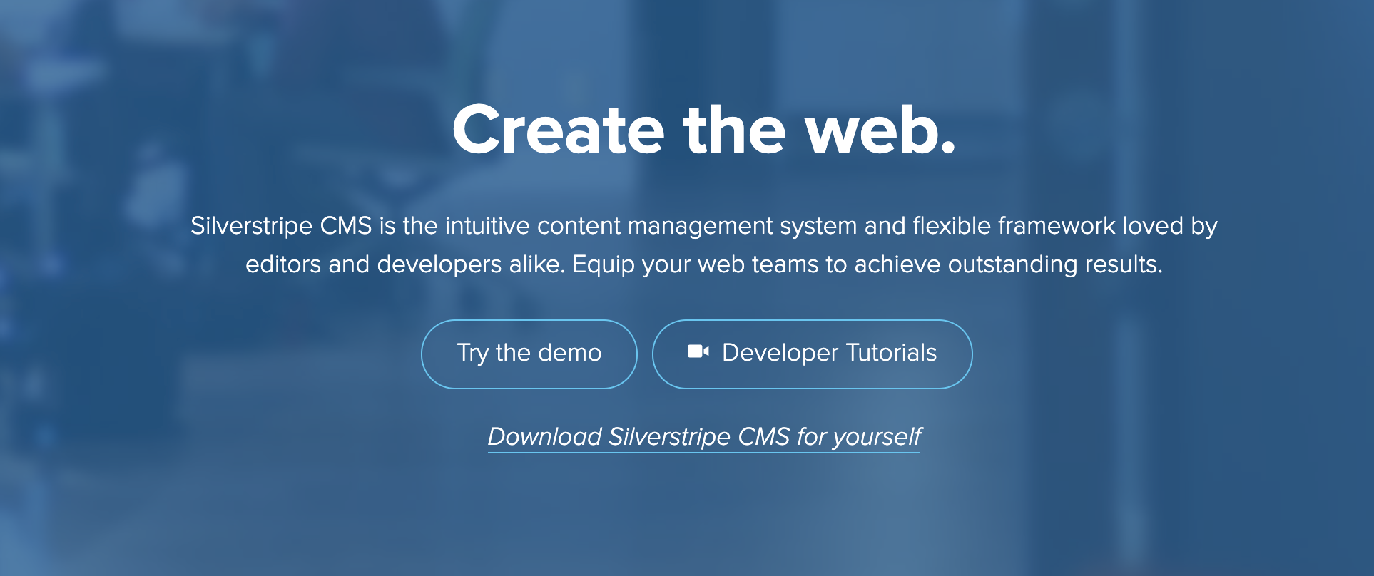silverstripe home page to create blogs