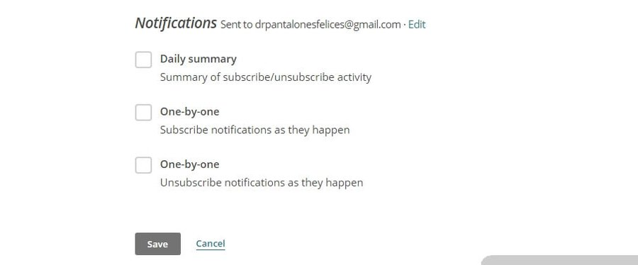 Enabling subscription notifications.