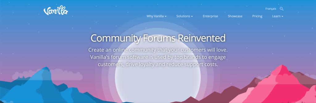 Vanilla forums banner