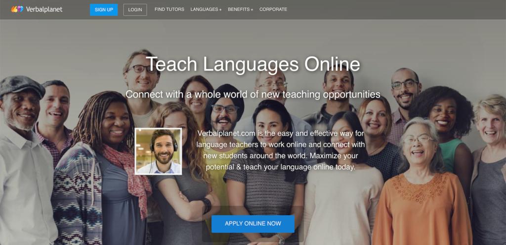 kiếm tiền online bằng cách dạy học trên Verbalplanet