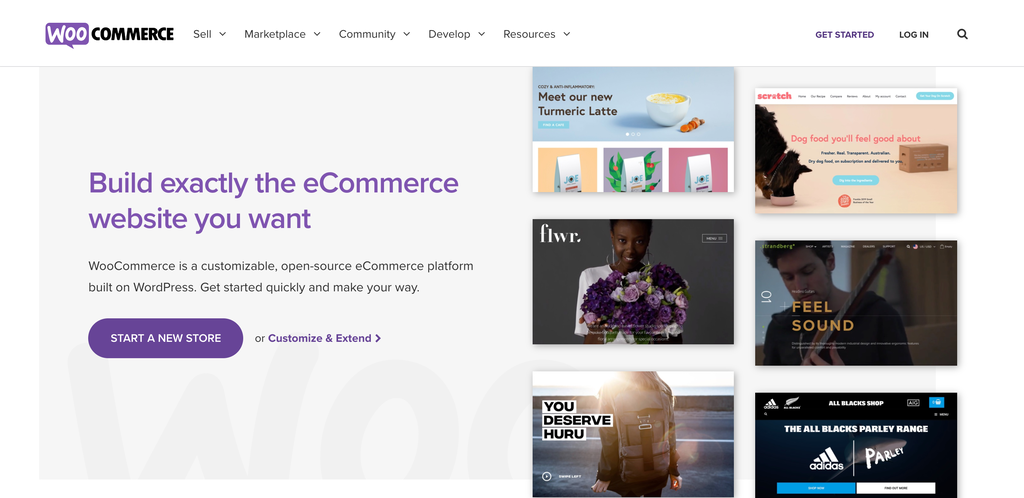 WooCommerce home page.
