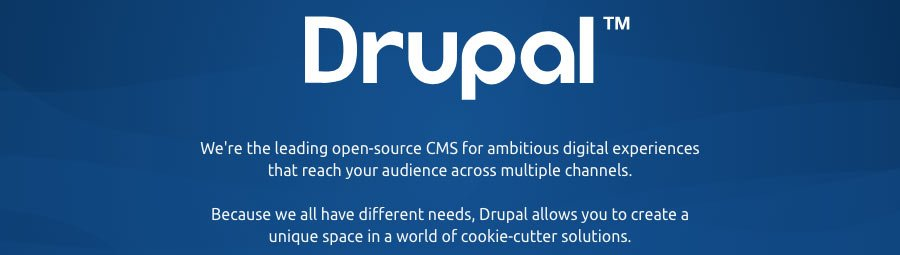 The slogan of Drupal CMS