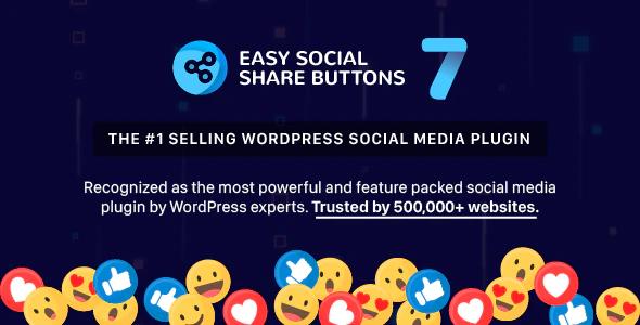 Easy Social Share Buttons WordPress Social Media plugin