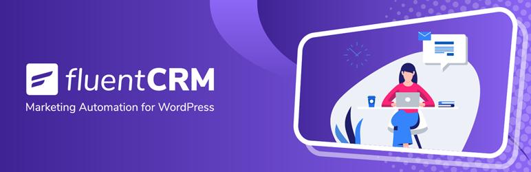 Screenshot of FluentCRM's plugin banner