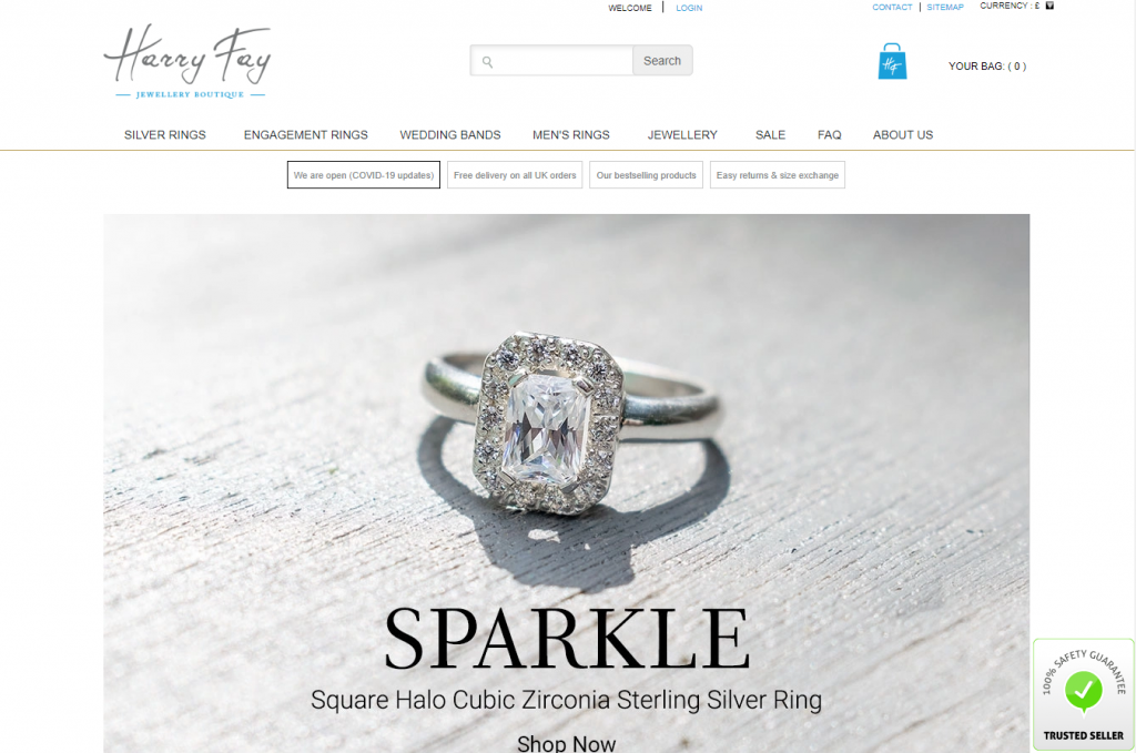 Harry Fay landing page