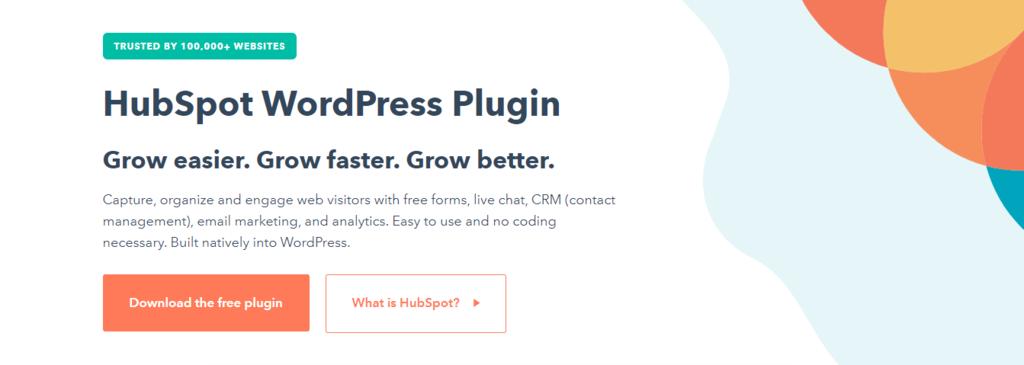 Screenshot of Hubspot plugin's banner