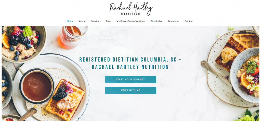 Rachael Hartley Nutrition is a food blog with a great theme