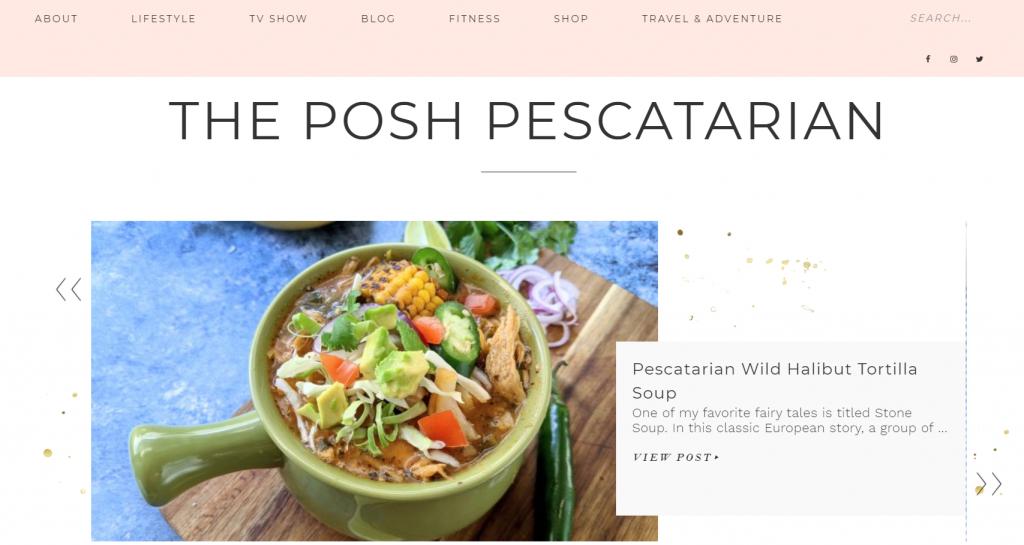 The Posh Pescatarian good blog