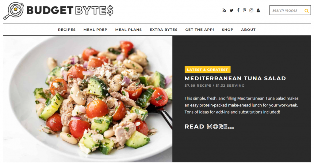 Cooking on a budget can you look more appealing with a good food blog theme