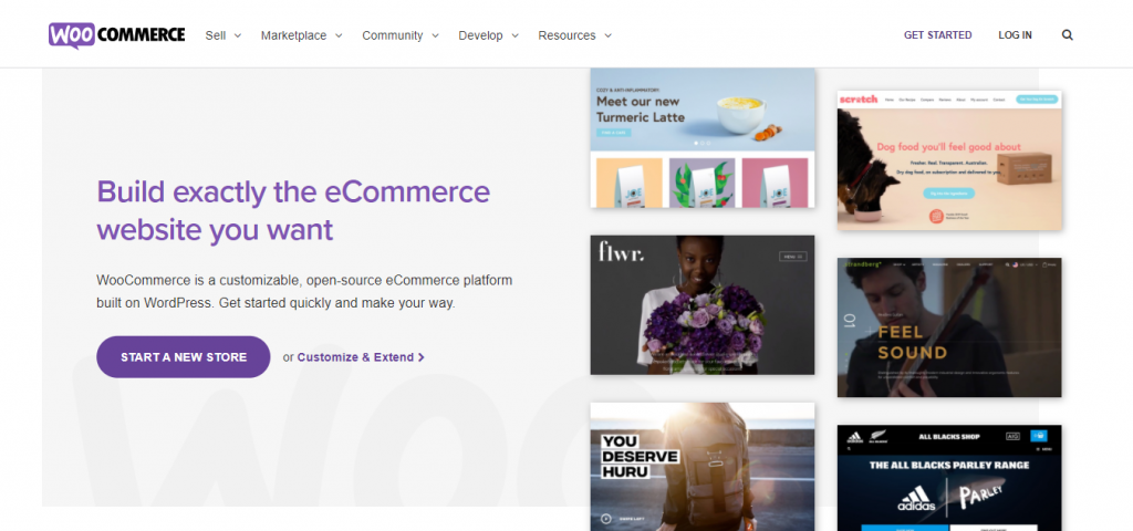 You can use WooCommerce plugin to manage your merchanise
