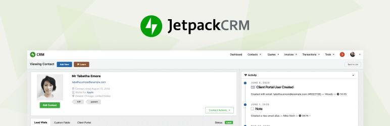 Screenshot of Jetpack CRM's plugin banner