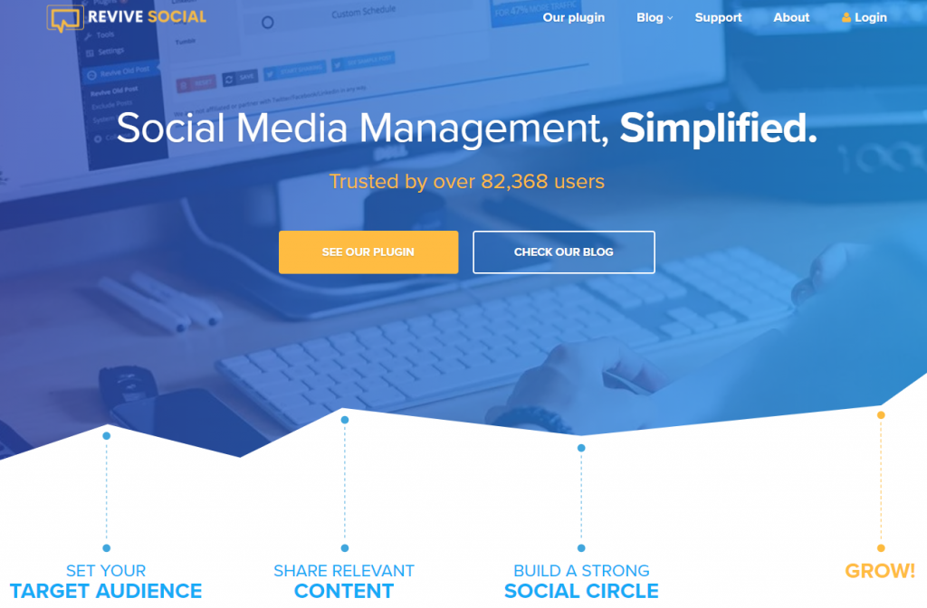 Revive social WordPress Social Media plugin