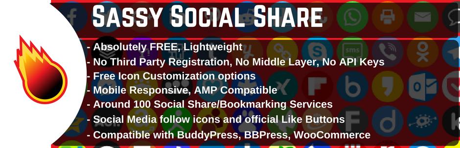 Sassy Social Share WordPress Social Media plugin