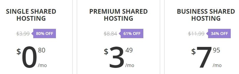 Hostinger's shared hosting plans.
