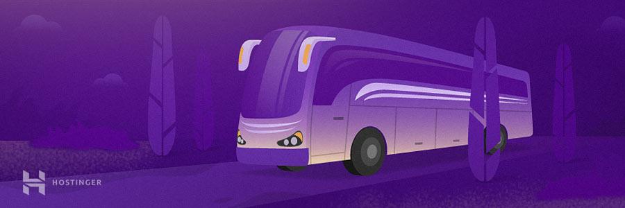 so sánh giữa shared hosting và xe buýt công cộng