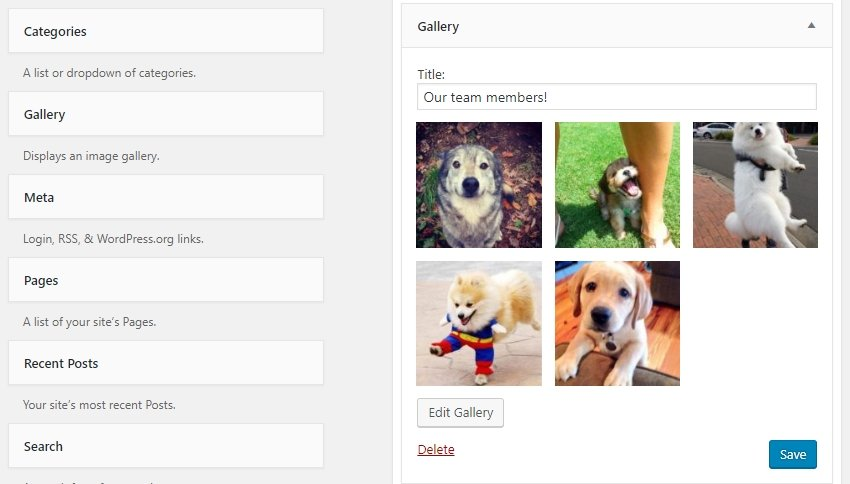 Considering your sidebar gallery widget.