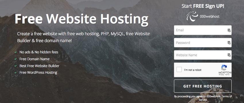 start a blog on free hosting