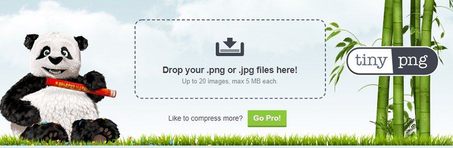 The TinyPNG homepage.