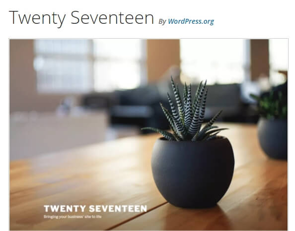The Twenty Seventeen theme.